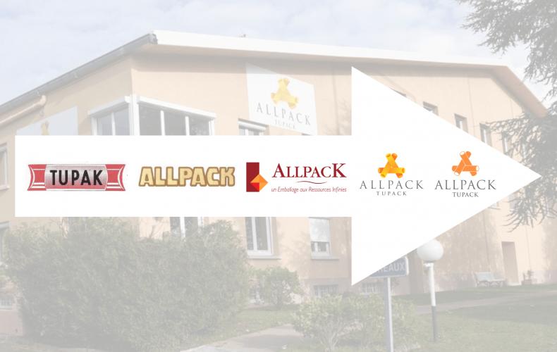 Evolution of the ALLPACK logo